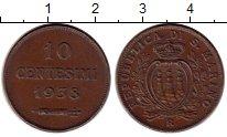 Изображение Монеты Сан-Марино 10 сентесим 1938 Бронза XF
