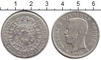 Изображение Монеты Швеция 2 кроны 1910 Серебро VF Густав V