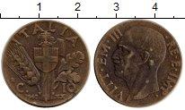Изображение Монеты Европа Италия 10 сентесим 1942 Латунь XF