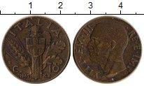 Изображение Монеты Италия 10 сентесим 1942 Латунь XF