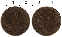Изображение Монеты Италия 10 сентесим 1941 Латунь XF