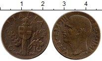 Изображение Монеты Италия 10 сентесим 1940 Латунь XF