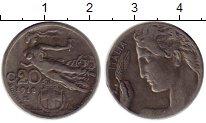 Изображение Монеты Европа Италия 20 сентесим 1912 Медно-никель VF