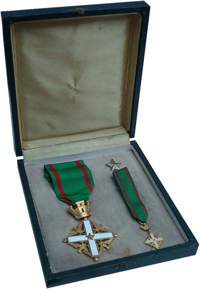 Изображение Значки, ордена, медали Европа Италия Орден Заслуг 1952  UNC