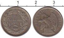 Изображение Монеты Южная Америка Чили 10 сентаво 1913 Серебро XF