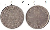 Изображение Монеты Британская Индия 1/8 доллара 1822 Серебро VF+