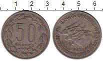 Изображение Монеты Африка Центральная Африка 50 франков 1963 Медно-никель VF