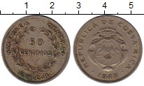 Изображение Монеты Коста-Рика 50 сентим 1948 Медно-никель VF