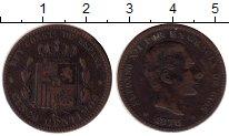 Изображение Монеты Европа Испания 5 сентим 1878 Медь VF