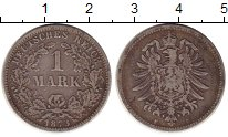 Изображение Монеты Германия 1 марка 1873 Серебро VF F