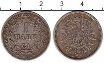 Изображение Монеты Германия 1 марка 1882 Серебро VF