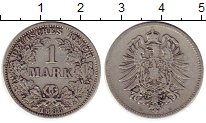 Изображение Монеты Европа Германия 1 марка 1886 Серебро VF