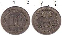 Изображение Монеты Европа Германия 10 пфеннигов 1890 Медно-никель VF