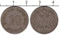 Изображение Монеты Германия 10 пфеннигов 1890 Медно-никель VF J