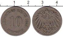 Изображение Монеты Европа Германия 10 пфеннигов 1892 Медно-никель VF