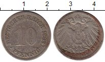Изображение Монеты Германия 10 пфеннигов 1893 Медно-никель VF F