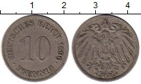 Изображение Монеты Германия 10 пфеннигов 1896 Медно-никель VF