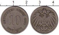 Изображение Монеты Европа Германия 10 пфеннигов 1896 Медно-никель VF