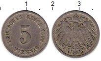 Изображение Монеты Европа Германия 5 пфеннигов 1893 Медно-никель VF