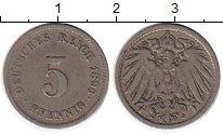 Изображение Монеты Европа Германия 5 пфеннигов 1896 Медно-никель VF