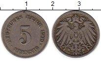 Изображение Монеты Европа Германия 5 пфеннигов 1900 Медно-никель VF