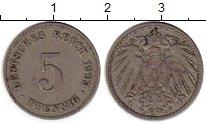 Изображение Монеты Германия 5 пфеннигов 1903 Медно-никель VF J
