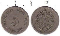 Изображение Монеты Германия 5 пфеннигов 1889 Медно-никель VF D