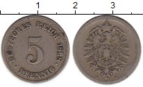 Изображение Монеты Германия 5 пфеннигов 1888 Медно-никель VF G