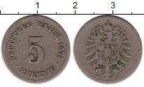 Изображение Монеты Европа Германия 5 пфеннигов 1874 Медно-никель VF