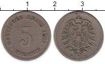 Изображение Монеты Европа Германия 5 пфеннигов 1889 Медно-никель VF