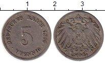 Изображение Монеты Германия 5 пфеннигов 1895 Медно-никель VF F