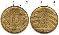 Изображение Монеты Веймарская республика 10 пфеннигов 1936 Латунь UNC-