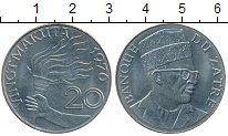 Изображение Монеты Заир 20 макута 1976 Медно-никель UNC-