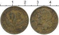 Изображение Монеты Камерун 1 франк 1924 Латунь VF