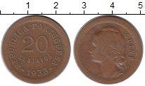 Изображение Монеты Португалия 20 сентаво 1933 Медь XF
