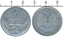 Изображение Дешевые монеты Польша 2 злотых 1958