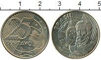 Изображение Дешевые монеты Южная Америка Бразилия 25 сентаво 2017