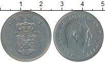 Изображение Дешевые монеты Дания 1 крона 1965