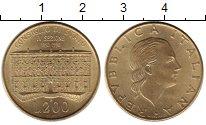 Изображение Монеты Италия 200 лир 1990 Латунь UNC- 100 лет со дня основ