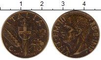 Изображение Монеты Италия 10 сентесим 1941 Латунь XF- Виктор Эммануил III