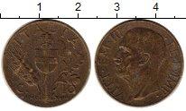 Изображение Монеты Европа Италия 10 сентесим 1940 Латунь XF-