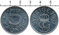 Изображение Дешевые монеты Европа Швеция 5 крон 1987