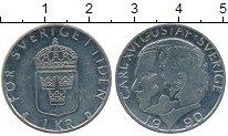 Изображение Дешевые монеты Европа Швеция 1 крона 1990