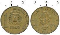 Изображение Дешевые монеты Доминиканская республика 1 песо 1992