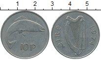 Изображение Дешевые монеты Ирландия 10 пенсов 1974