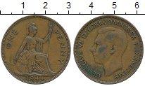 Изображение Дешевые монеты Европа Великобритания 1 пенни 1944