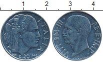 Изображение Дешевые монеты Италия 20 чентезимо 1945