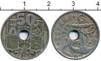 Изображение Дешевые монеты Испания 50 сентим 1949