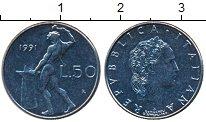 Изображение Дешевые монеты Италия 50 лир 1991