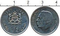 Изображение Дешевые монеты Марокко 1/2 дирхама 1987
